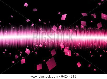 Abstract Soundwave Rectangle Sound wave Isolated Black Galaxy.