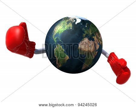 World With Boxing Gloves