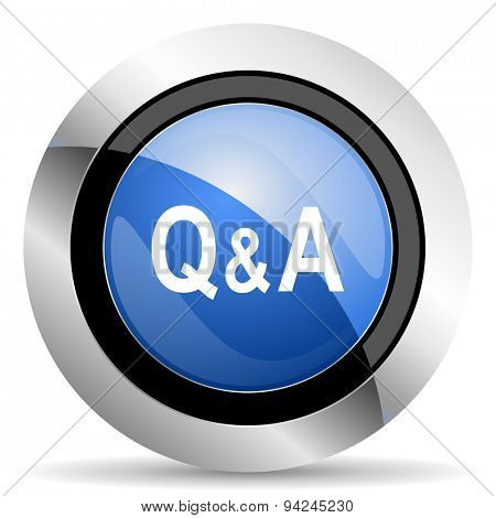 question answer icon original modern design for web and mobile app on white background