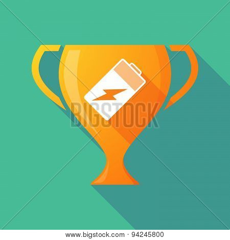 Long Shadow Trophy Icon With A Battery