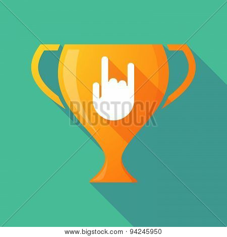 Long Shadow Trophy Icon With A Rocking Hand