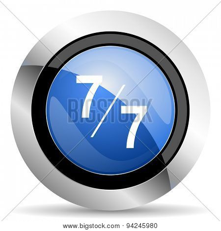 7 per 7 icon original modern design for web and mobile app on white background