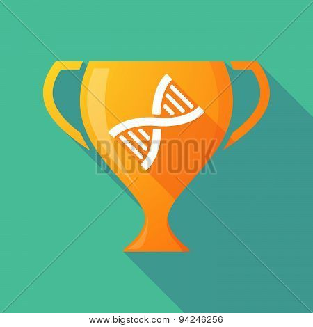 Long Shadow Trophy Icon With A Dna Sign