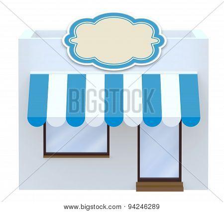Storefront Symbol 3D Illustration