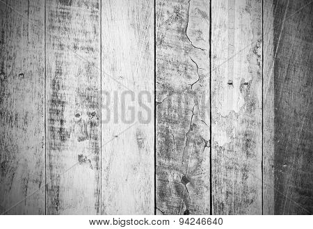 Old Wooden Board Background And Texture