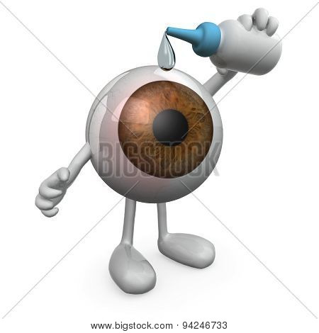 Big Eye With Legs And Arms That You Put Eye Drops