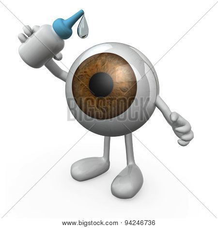 Eye With Legs And Arms That You Put Eye Drops