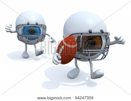 Two Eyes Playing American football