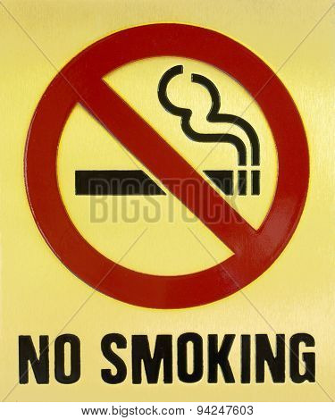 Nakhonratchasima, Thailand - April 8, 2015 : Sign Do Not Smoking Public