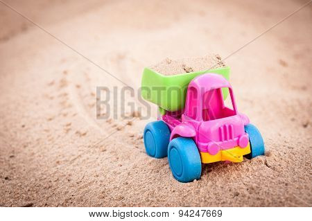 Truck Going Forward In The Sands