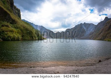 In The Crater Of Mount Pinatubo