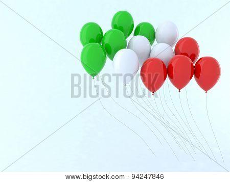 Flag Balloon Italy