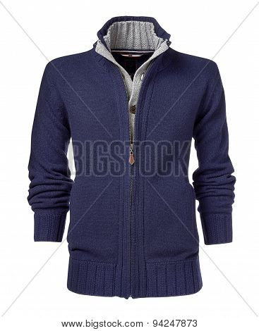 Mens Jacket Isolated On A White Background