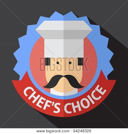 Vector color flar chef icon