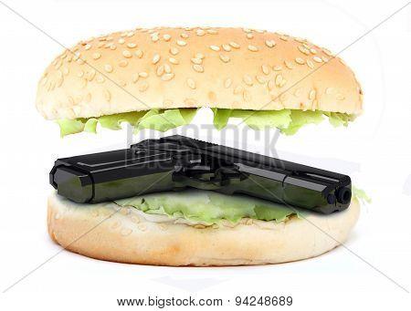 Sandwich Inside Gun