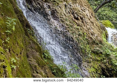 Fresh Krushuna waterfalls cascade in deep forest and rock
