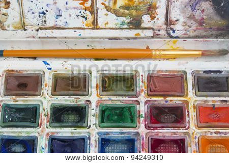 Background Art Paint Brush And Palette