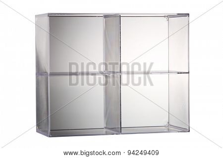 small glass ofr plastic display box for mini toy