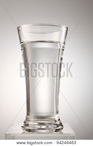 glass of water on the white background