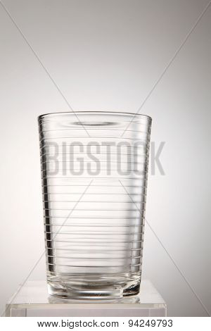 empty glass on the white background