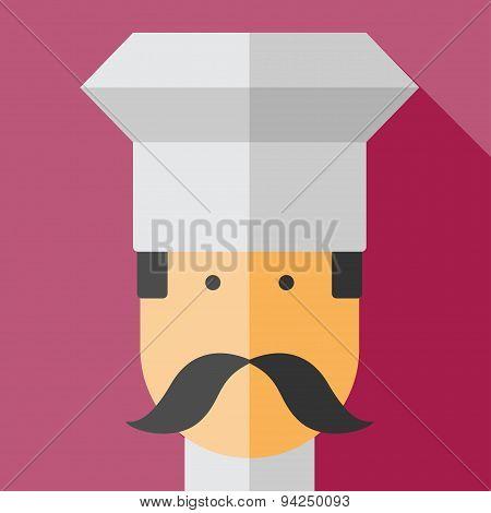 Vector color flar chef icon
