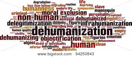 Dehumanization Word Cloud