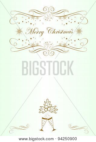 Background for congratulations on Christmas