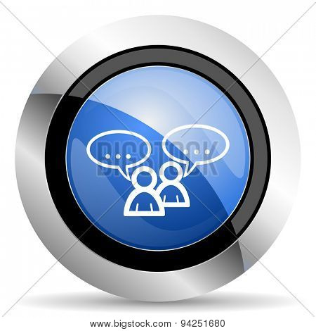 forum icon chat symbol bubble sign  original modern design for web and mobile app on white background
