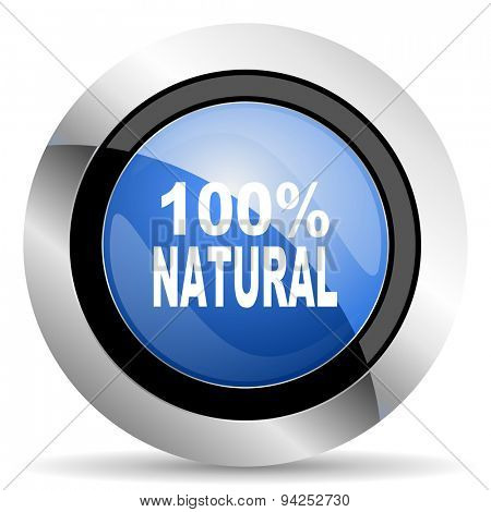 natural icon 100 percent natural sign original modern design for web and mobile app on white background