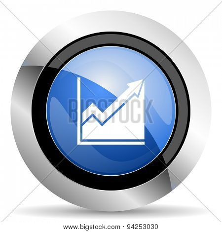 histogram icon stock sign original modern design for web and mobile app on white background