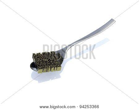 Qr Code Inside Spoon