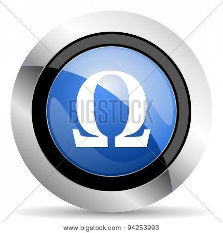 omega icon  original modern design for web and mobile app on white background