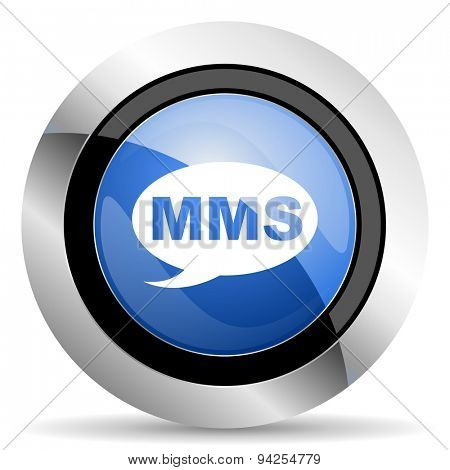 mms icon message sign original modern design for web and mobile app on white background