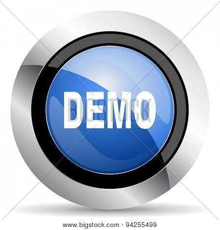 demo icon  original modern design for web and mobile app on white background