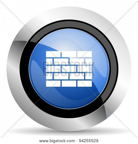 firewall icon brick wall sign original modern design for web and mobile app on white background