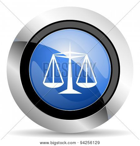 justice icon law sign original modern design for web and mobile app on white background