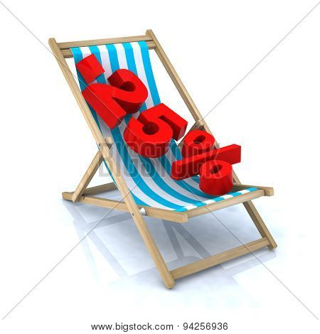 Beach Chair With -25% Number