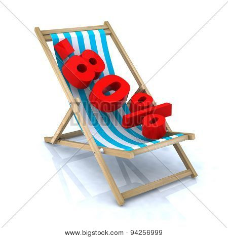 Beach Chair With -80% Number