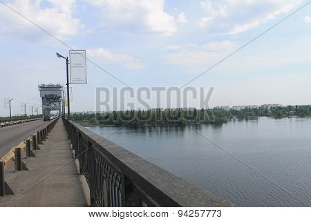 Bridge across the Dnieper River