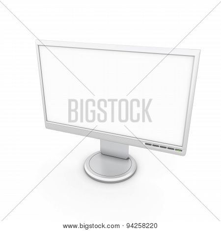 Monitor With A White Screen To Insert Images