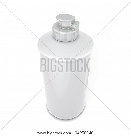 White Bottle Of Detergent For Your Design Close-up