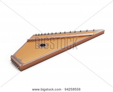 Psaltery Under The White Background