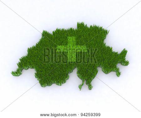 Green Switzerland With Grass
