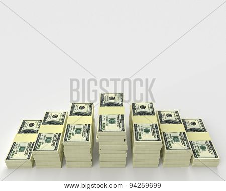 Big Money Stack. Finance Concept
