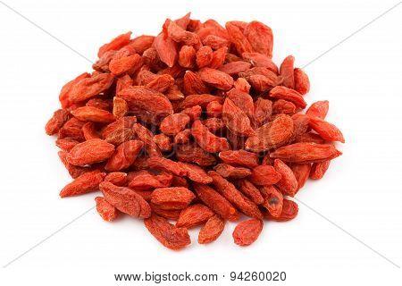 A pile of dried goji berries