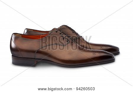 Mens Shoe Isolated On White