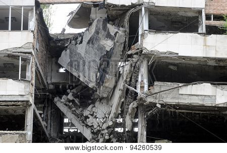 Bombed building