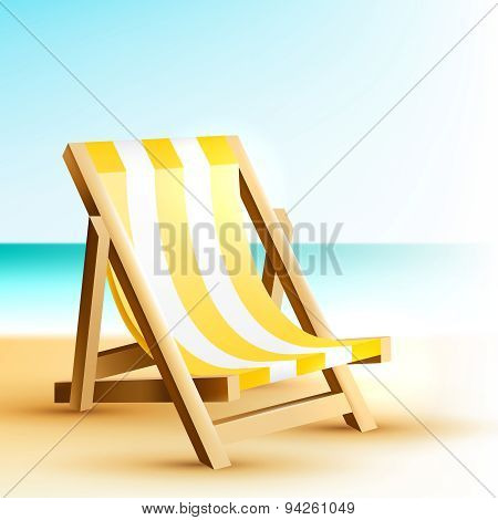 Background With Wooden Beach Chair