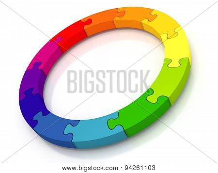 Circle Of Jigsaw Pieces