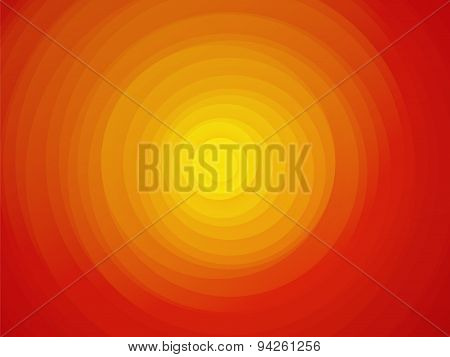 Sun Red Yellow Orange Background Asymmetric Circles